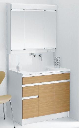 TOTO洗面化粧台〔Octave オクターブ〕基本セットプラン6 LDSRA090BFXSW4□+LMRA090A3SXC2X(洗面台+キャビネット)間口900壁給水タイプカウンター高さ800mm