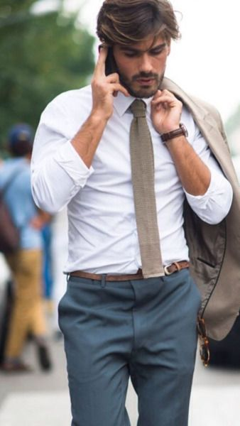 Knit tie, a perfect style