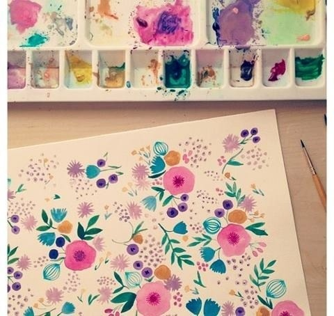 Painted flowers