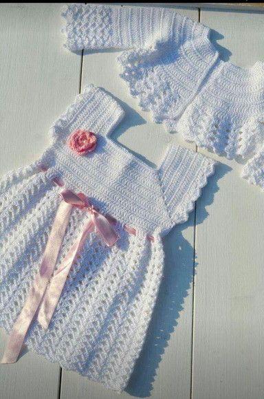 Compre Vestido de croche infantil no Elo7 por R  130 77616d56a087a
