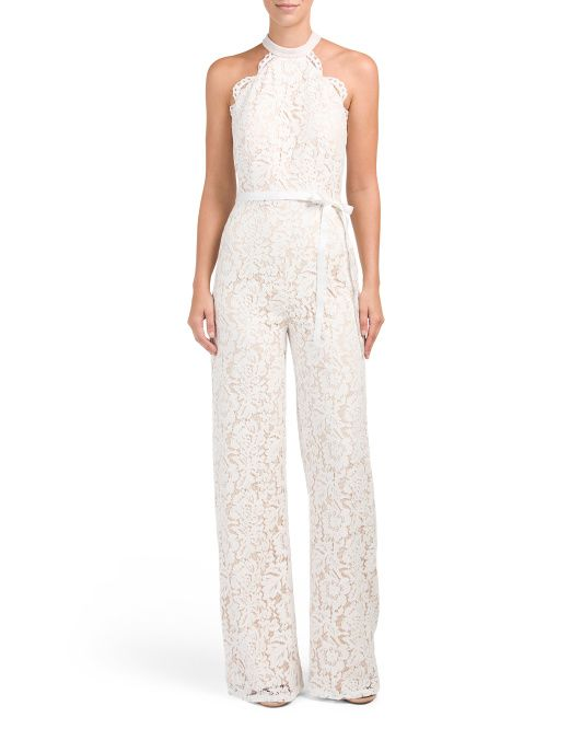 Lace halter wedding jumpsuit from TJ Maxx's new wedding store - Oh sure, NOW they unveil this, RIGHT after I get my dress yesterday!!!