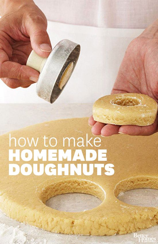 Learn how to make fresh homemade doughnuts for any occasion: http://www.bhg.com/recipes/how-to/bake/how-to-make-doughnuts/?socsrc=bhgpin040914homemadedoughnuts