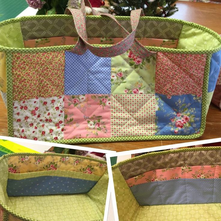 Megelles Free PDF Patterns  - Megelles sewing basket - Fabric Basket