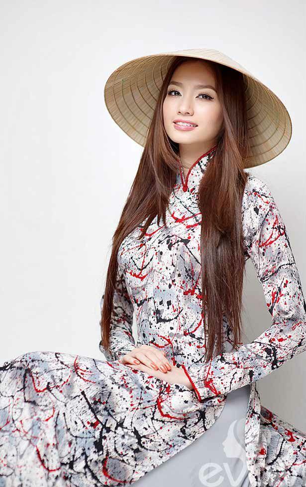 Vietnamese beauty in Vietnam traditional dress (ao dai)