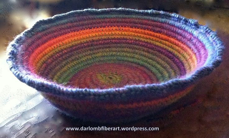 56 best Crochet Baskets & Bowls images on Pinterest   Cestas de ...
