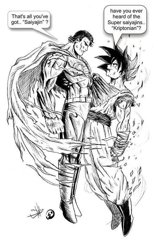 Goku trolls Superman�