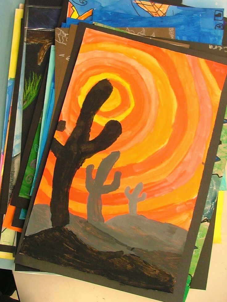 Art with Mrs. Seitz: Warm and Cool Silhouettes