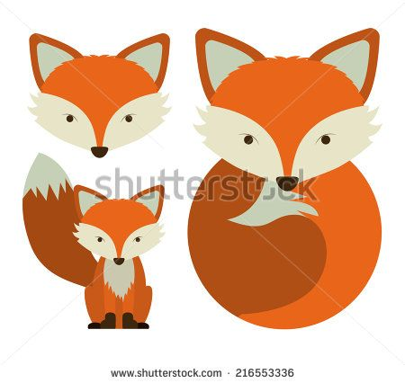 fox face illustration - Google Search