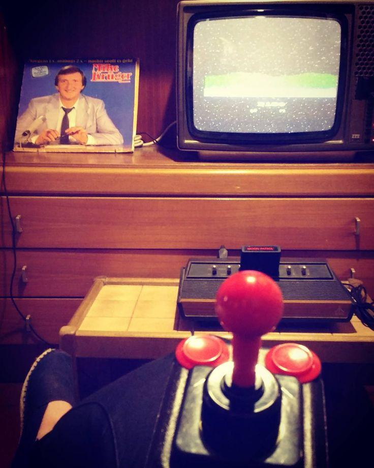 On instagram by lepuska #atari2600 #microhobbit (o) http://ift.tt/2eWRs9T pleasent visit to #computerspielemuseum #berlin. #moonpatrol  #latergram #nerdsgoinghappy #throwback