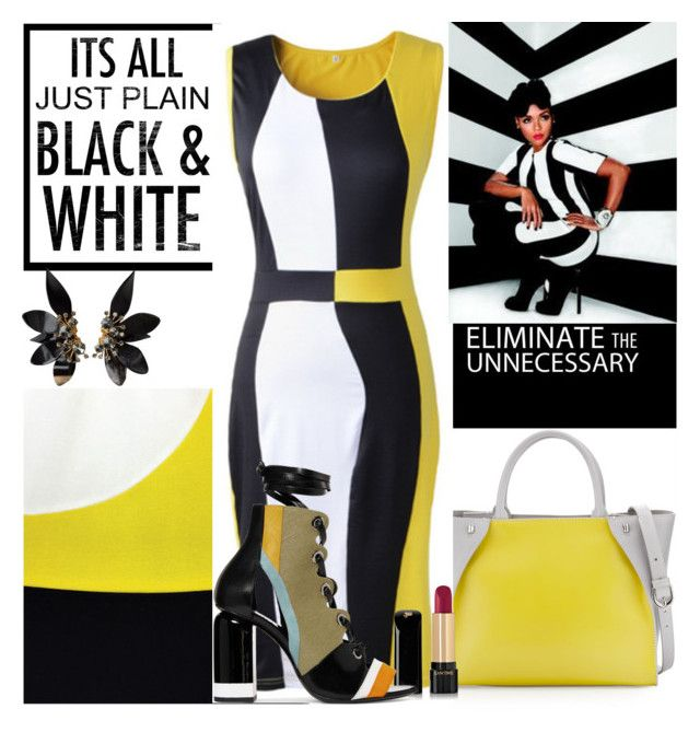 """Janelle Monae in Two colors!!"" by ann-kelley14 on Polyvore featuring Charles Jourdan, Lancôme, Pierre Hardy, Marni, colorblock, janellemonae and famousface"