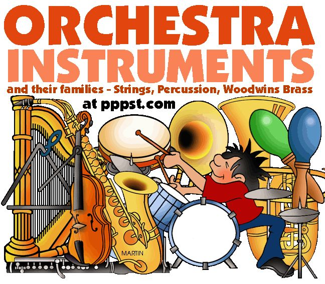 Instruments of the Orchestra and their Families - FREE Presentations in PowerPoint format, Free Interactives and Games