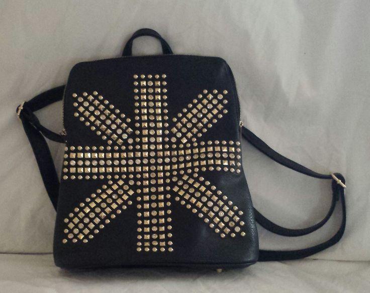 """AGTS"" Logo Union Jack Design Backpack $65.00"