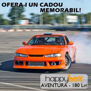 happybox Aventura Curs pilotaj auto Titi Aur Zbor cu avionul Scuba Diving Parcuri de Aventura Off- Road 51 de experiente