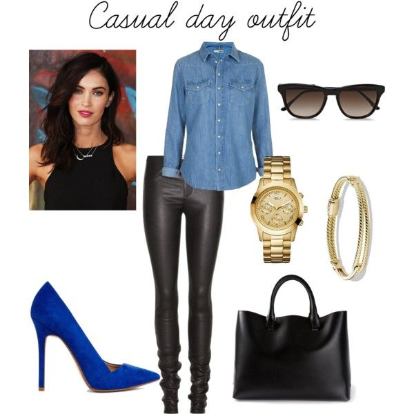 """Megan Fox casual day outfit"" by dodiyka on Polyvore"