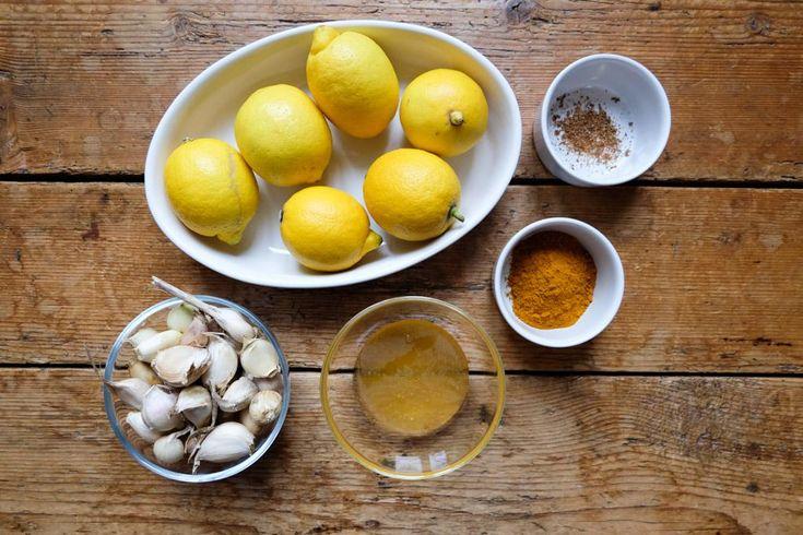 Knoblauch-Zitronen-Elixier... eventuell noch Petersilie, Salbei, Pfefferminze und Basilikum zusätzlich?