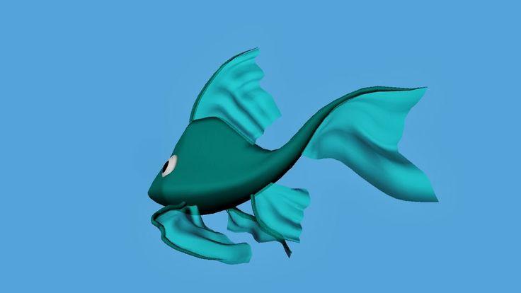 Bàrbara Ruisánchez Andreu: Peis3D art digital Illustration, fish, pez, animación3D