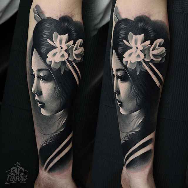 Japan Women Tattoos Done By Tattoo Artist Pancho Wroclaw Wormhole Tattoo Best Choice For Tattoo Artists Geisha Tattoo Design Geisha Tattoo Japanese Tattoo