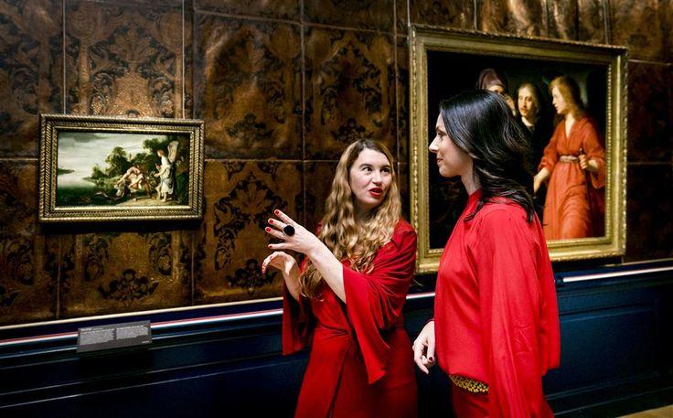 Prinses Viktória de Bourbon de Parme, de echtgenote van prins Jaime, opende vrijdagmiddag, 11-11-2016, in het Frans Hals Museum in Haarlem de tentoonstelling 'Hollandse meesters uit Boedapest - Topstukken uit het Szépmüvészeti Múzeum'. Viktória was door het Frans Hals Museum gevraagd vanwege haar Hongaarse afkomst.