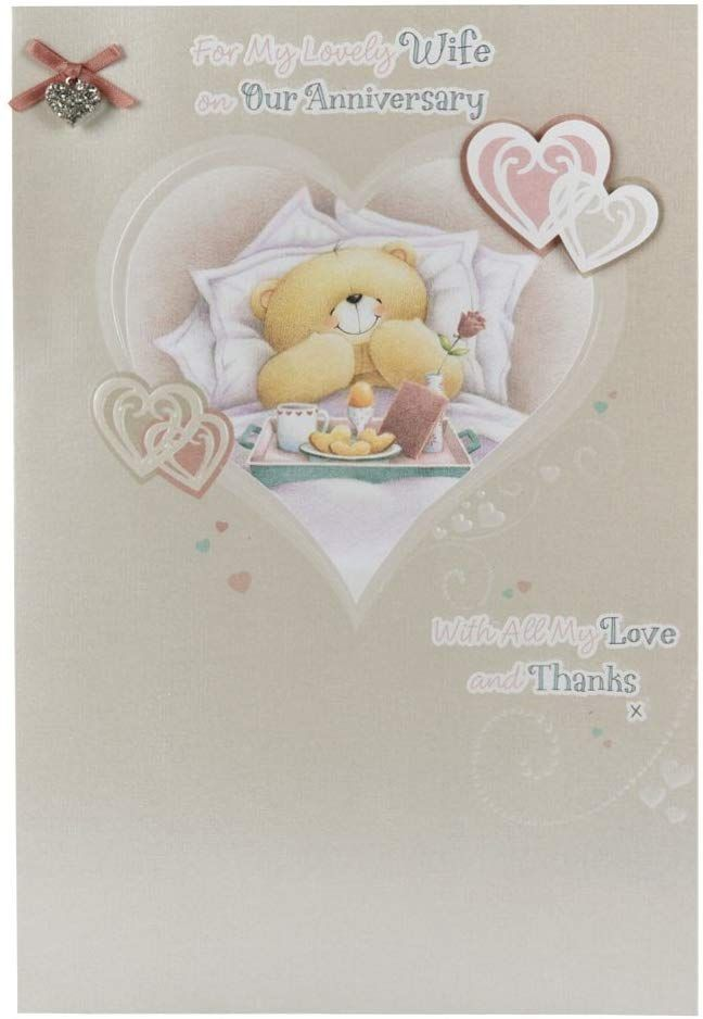 Hallmark Forever Friends Anniversary Card For Wife Love And Thanks Large Amazon Co Uk Offic Friend Anniversary Anniversary Cards For Wife Friends Forever