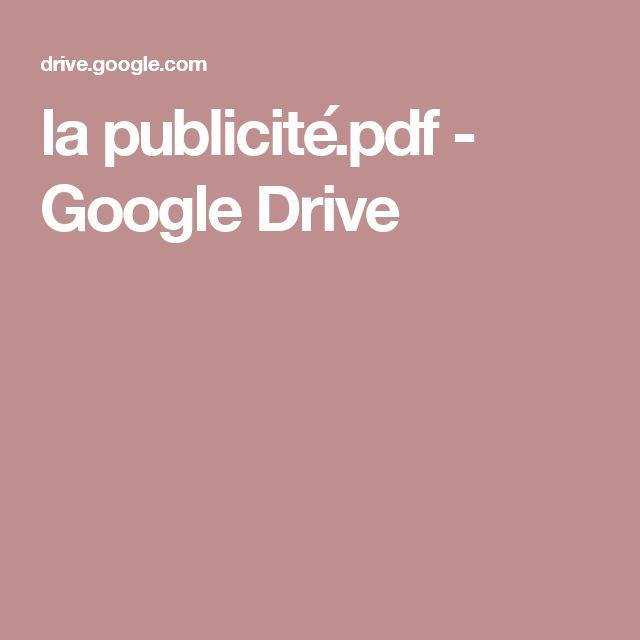 la publicité.pdf - GoogleDrive