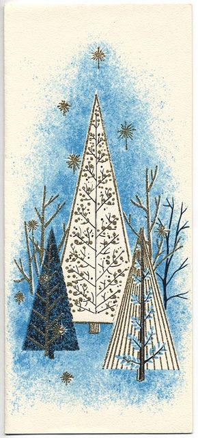 Mid-Century Trees 1950s by ElectroSpark, via Flickr