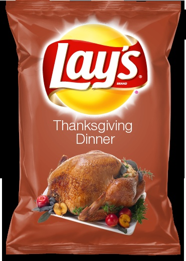 I just created a Lay's flavor using the Lay's Do Us a Flavor app on facebook! It's Thanksgiving Dinner
