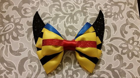 Marvel Xmen Wolverine Hair Bow by DazzlinLew on Etsy