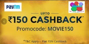 Paytm Offers to Get up to Rs 150 cashback on Movie Tickets. In this offer, you will get maximum cashback of 15%. It means if your amount exceeds Rs 1000 then you will get Rs 150 cashback on your wallet. This offer is applicable to all users either that's new or old. Paytm is the one of the... #Uncategorized