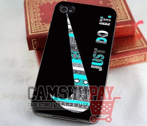 Aztec Mint Nike Just Do It- for case iPhone 4/4s/5/5c/5s-Samsung Galaxy S2 i9100/S3/S4/Note 3-iPod 2/4/5-Htc one-Htc One X-BB Z10