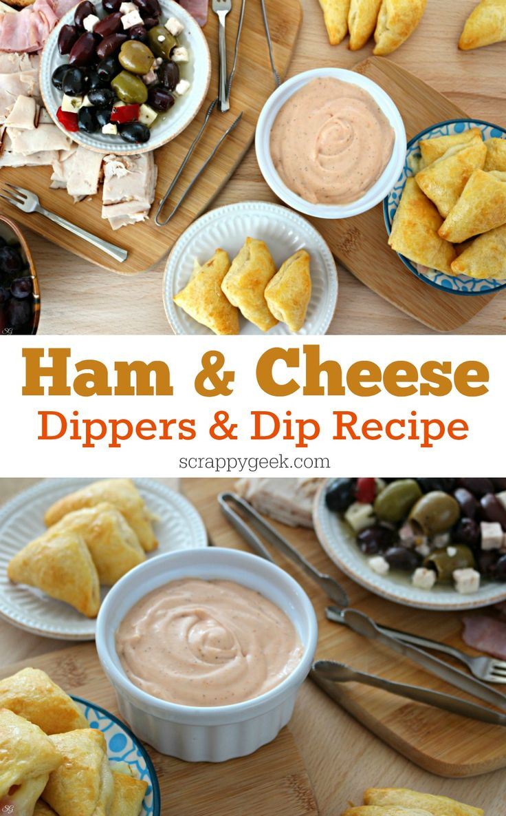 Ham and Cheese Dippers and Dip Recipe! Check out this easy ham and cheese lunch recipe and get a bonus weeknight antipasti entertainment platter idea! #BeyondTheSandwich #ad @walmart