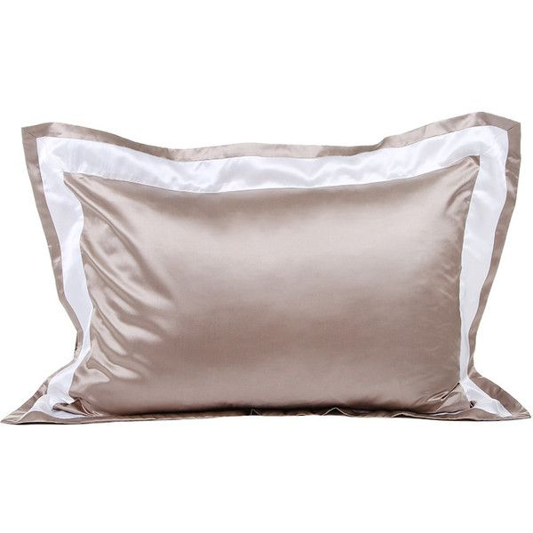 gingerlily city silk cotton pillowcase beige 50x75cm featuring polyvore home bed u0026
