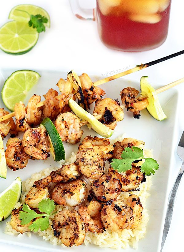 Spicy Coconut and Lime Grilled Shrimp Scampi