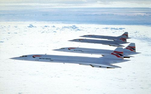 Concorde formation, image retouched with the latest colors