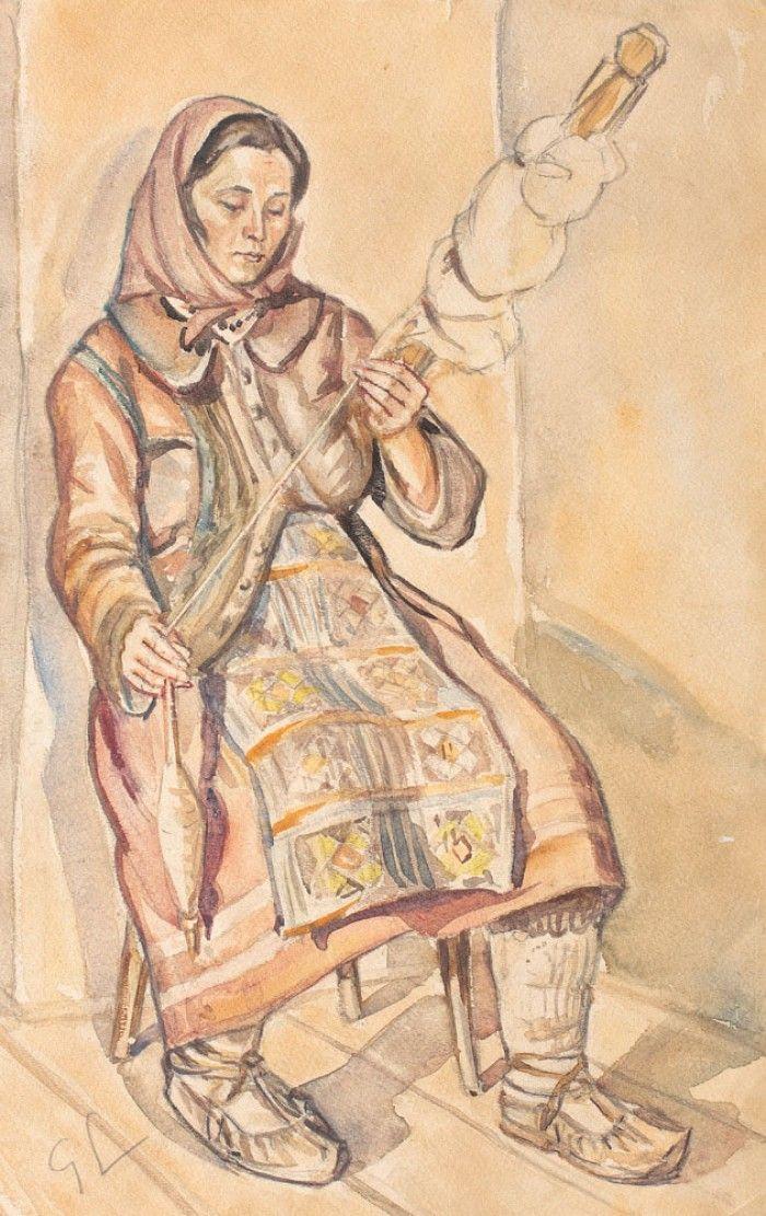 Ţărancă cu fuior (Casiana a lui Cristian Ion din Sarmisegetuza)