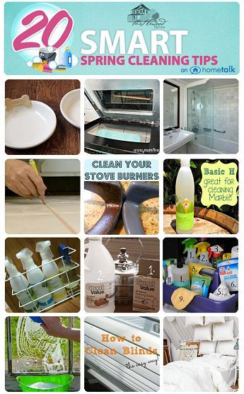 http://www.hometalk.com/b/714476/spring-cleaning-tips 20 Amazing Spring Cleaning Tips