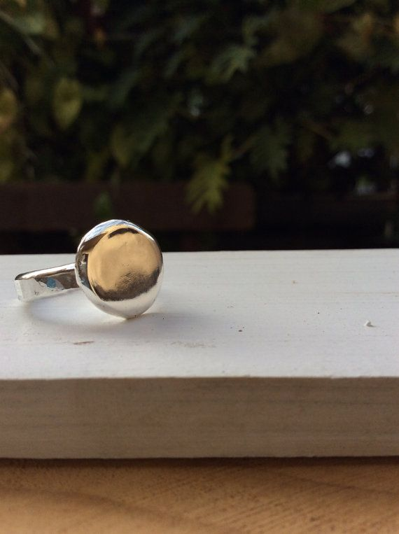 FREESHIPPING chunky silver ring heavy silver ring by SilverPinions