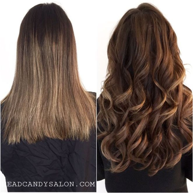 Avant-Apres : Before & After Tape Hair Extensions #tapehair #tapeextensions #hairextensions #l