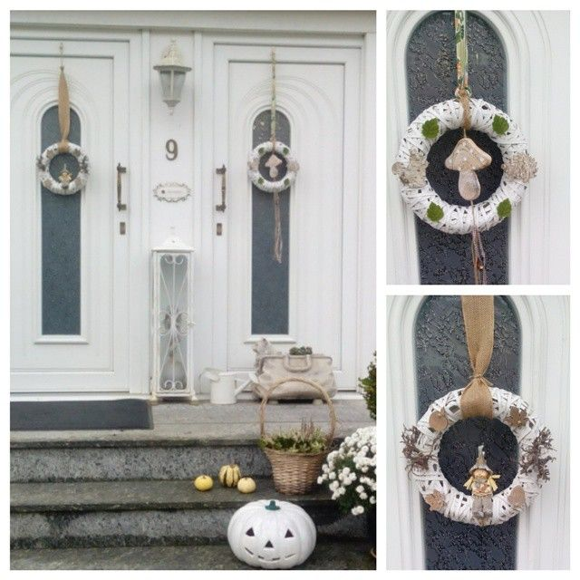 Herbstdeko Hauseingang Modern. Trendy Hauseingang Dekorieren Fr Den ...
