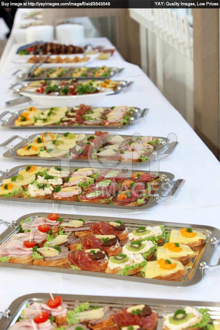 finger food Buffet Food for a crowd, Party food