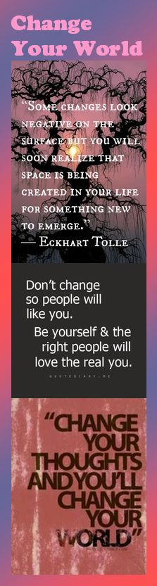 Some changes look negative on the surface but you will soon realize that space is being created in your life for something new to emerge. — Eckhart Tolle #Fitness Matters