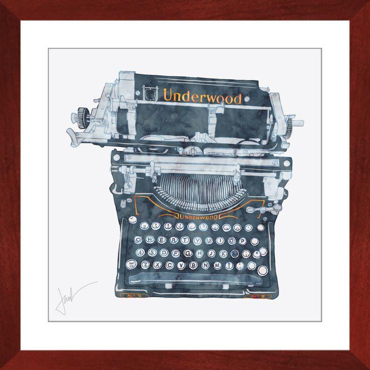 Underwood Typewriter Framed Prints