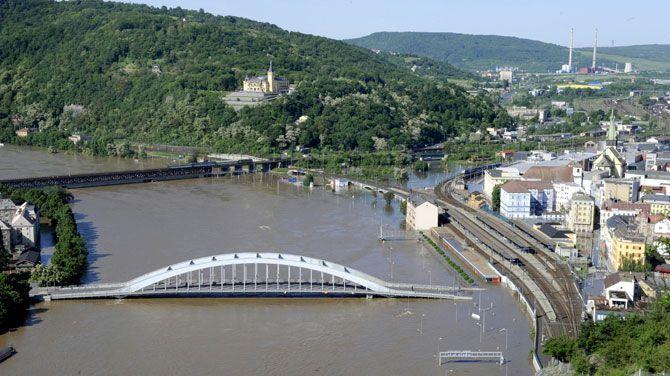 overstroming van de Donau.