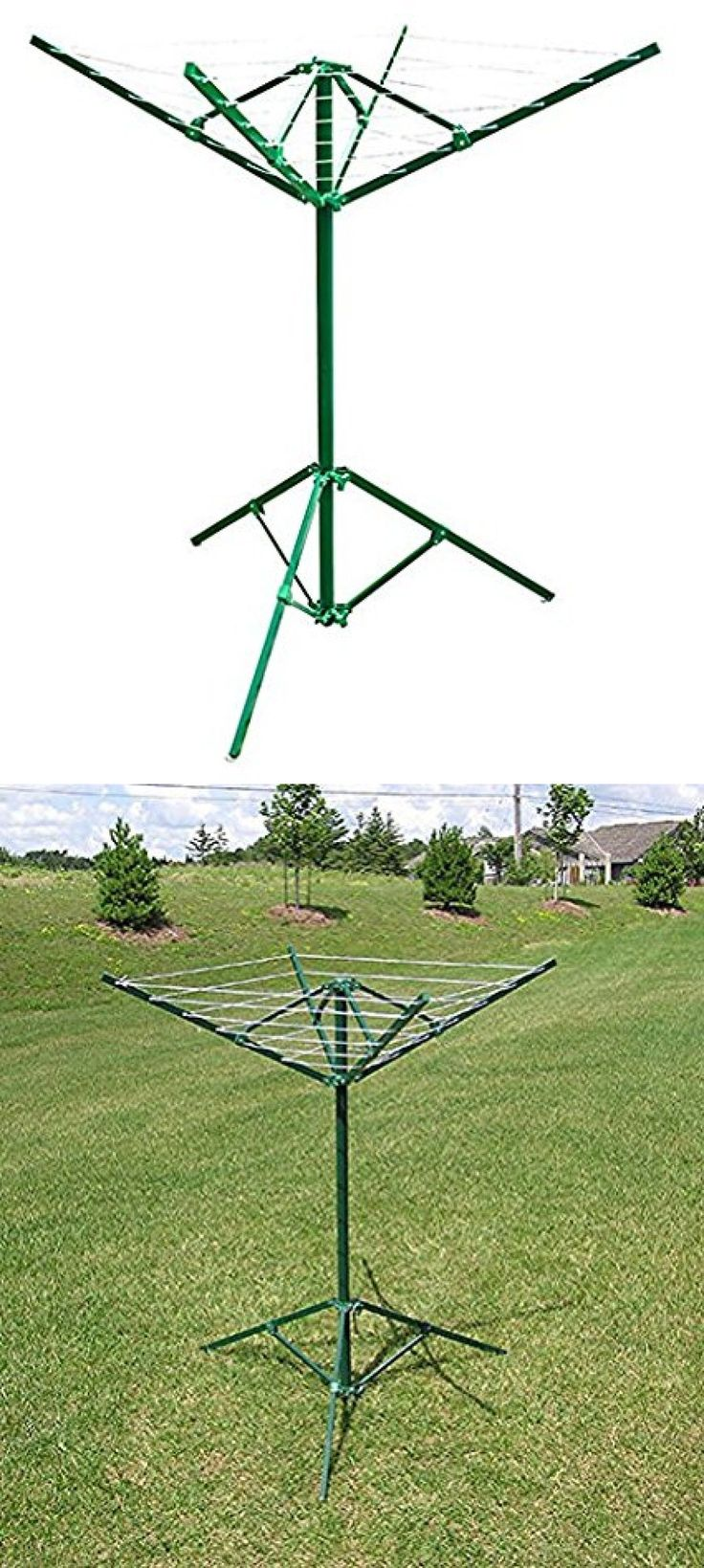 Clotheslines And Laundry Hangers 81241: Portable Outdoor Rotary Clothesline  Laundry Dryer Clothes Line Drying Rack