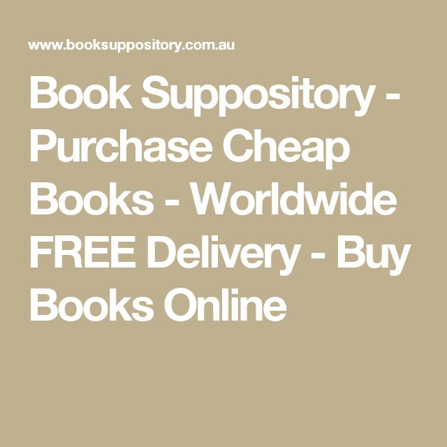 Book Suppository - Purchase Cheap Books - Worldwide FREE Delivery - Buy Books Online