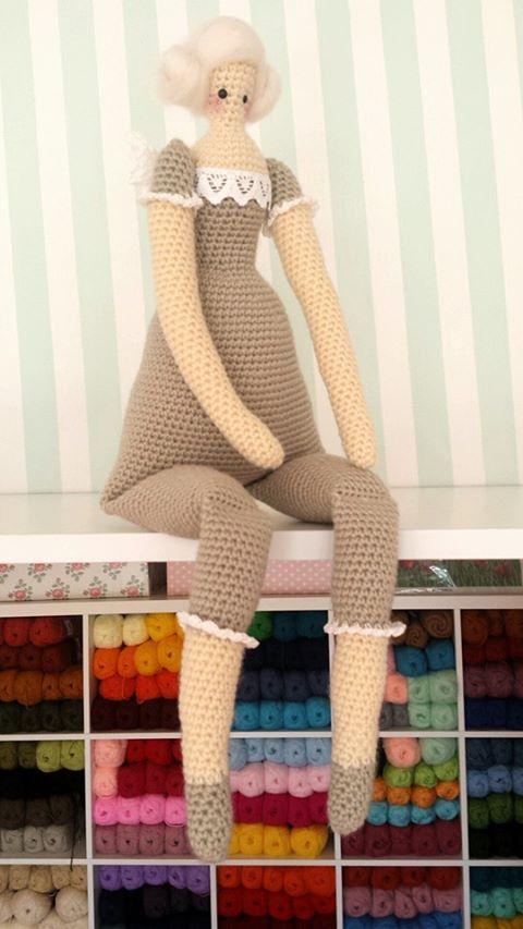 Tilda The Guardian Angel doll handmade crochet pattern by tulilala