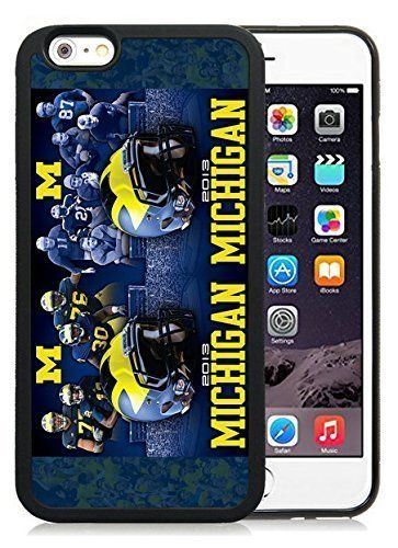 Customized LO.O Case Customized Iphone 6 Case with Ncaa Big Ten Conference Football Michigan Wolverines 4 Protective Cell Phone TPU Cover Case for Iphone 6 Generation 4.7 Inch Black