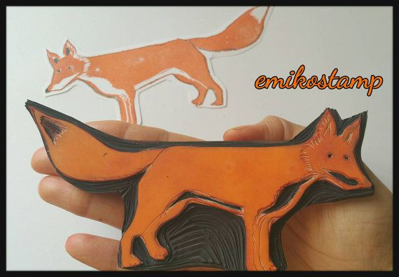 Check out this item in my Etsy shop https://www.etsy.com/listing/502973207/large-xl-fox-rubber-stampwoodland