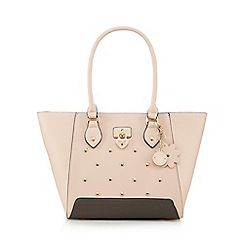 Light pink heart studded winged grab bag