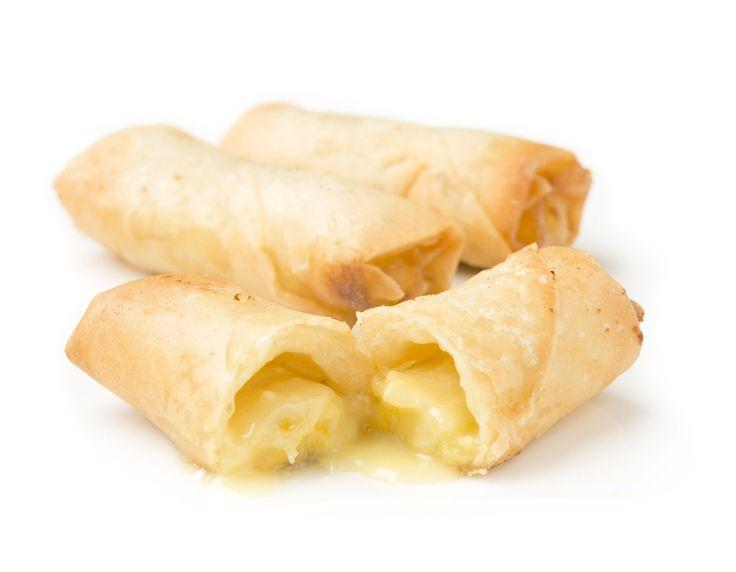 Rollitos de Plátano y Chocolate Blanco - Ta-Tung