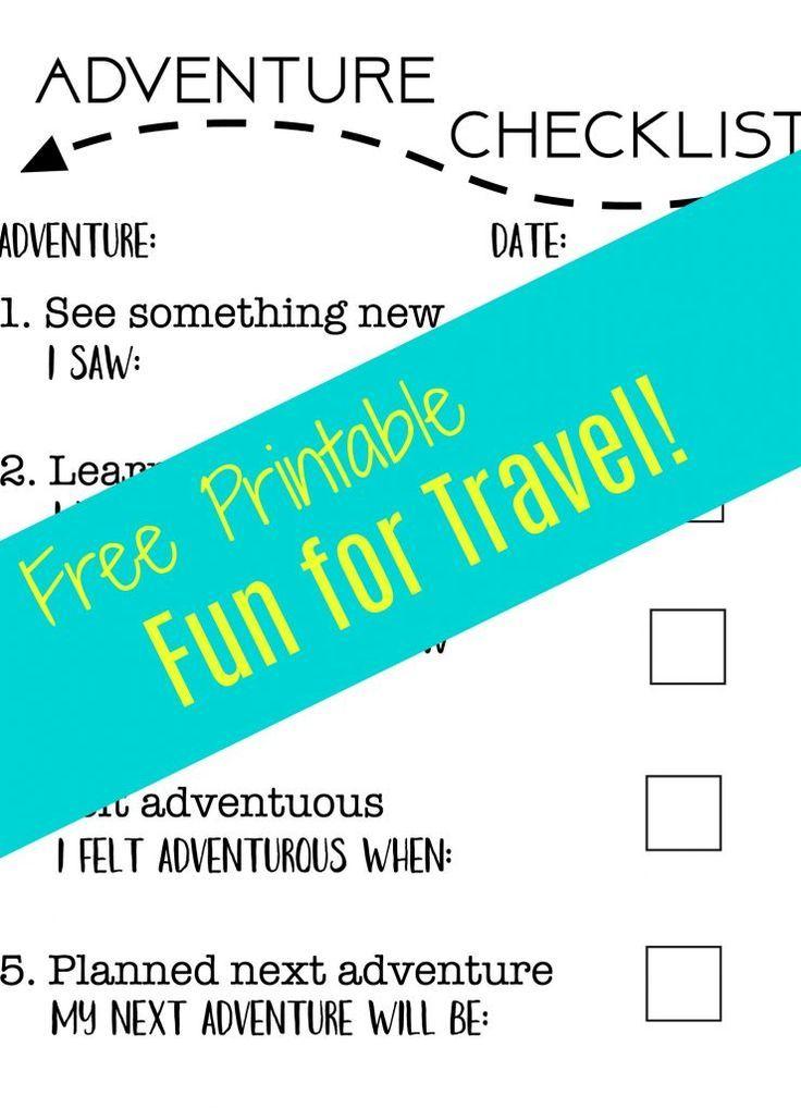 Adventure Checklist A Fun Free Travel Printable For Kids Travel Printables Travel Fun Italy Trip Planning